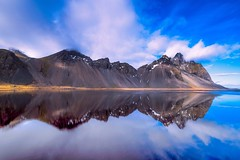 Vestrahorn Reflections (tryggstrand) Tags: world travel blue sea mountain mountains color reflection beach nature water colors beautiful weather clouds reflections landscape grey landscapes iceland spring nikon europe flickr view cloudy north explore d750 tamron discovery discover 500px instagram nikond750