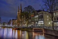 Amsterdam fragments (karinavera) Tags: street city longexposure travel houses urban netherlands amsterdam night buildings boats canals exploration nikond5300