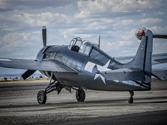A restored WWII aircraft at the 2014 Air Show of the Cascades near Madras, Oregon (mharrsch) Tags: oregon vintage airplane aircraft aviation wwii madras airshow mharrsch airshowofthecascades