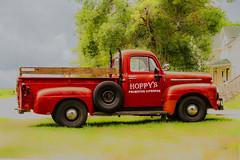 Hoppy's ....Happy Truck Thursday (jackalope22) Tags: red ford truck happy signage thursday hoppy htt