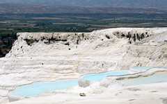 pamukkale springs (1) (kexi) Tags: blue white nature canon turkey view may springs layers pamukkale 2015 instantfave