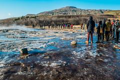 Geysir - Iceland (H@y1ey) Tags: people holiday cold water iceland nikon hill tourist reykjavik geyser hotspring geysir thegreatgeysir d3300