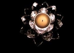 ...illuminating the holder... (carbumba) Tags: candle crystal candleholder