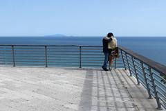 Ventotene lovers (@ntomarto) Tags: blue sea sky italy kiss italia mare terrace blu lovers cielo railing ventotene bacio coppia sperlonga terrazza amanti ringhiera antomarto ntomarto