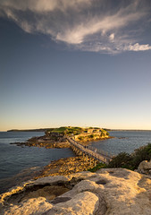 Golden hour at Bare Island Sydney Australia. (Tacksoon) Tags: sunset sea sydney australia goldenhour bareisland