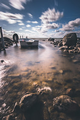 Gone by the Wind.. (Magnus Eriksson75) Tags: ocean longexposure sea nature water clouds landscape wind sweden samsung le sverige samyang nx500