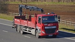 YN65 ORO (panmanstan) Tags: truck wagon motorway yorkshire transport lorry commercial vehicle cf m62 daf whitley