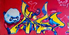 PanDAmoNIuM _ CAIN (SRCARAMELOS) Tags: bear new blue yellow zoo graffiti spain panda colours eds cain edsick 2k16