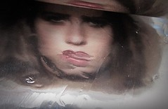 2016-04-25 soluble portrait (6)f (april-mo) Tags: portrait reflection art weird foil creative surreal distortions womanportrait unusualportrait solubleportrait