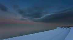 Path to the Dark Side Canon EOS 5D Mark III (Philocycler) Tags: winter sunset snow cold canon lakemichigan lightsnow chicagoist leadinglines chicagolakefront canon1740f4l canoneos5dmarkiii
