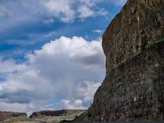 stark (..Lana..) Tags: road sky nature clouds prime roadtrip cliffs 20mm easternwa primelens microfourthirds