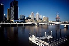 Brisbane (goodfella2459) Tags: city color film water analog 35mm river nikon kodak slide brisbane queensland 100 elitechrome milf e6 extra f4