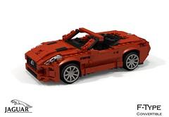 Jaguar F-Type Convertible (lego911) Tags: auto sports car model aluminum lego render convertible jaguar v8 aluminium cad sportscar v6 roadster povray moc ldd miniland 2013 ftype foitsop 2010s lego911