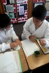 5th Grade Science Experiment (legomars) Tags: fun experiments stem education science slime lakewood catholicschool labcoats cornstarch 5thgraders lakewoodca stpancratius