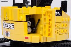 11_engine (LegoMathijs) Tags: road scale yellow john chains team model lego display technic dozer blade snot deere compact excavator moc 75g foitsop decalls legomathijs
