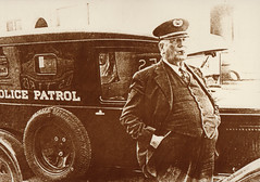 Police Chief Virg Peters and Patrol Car