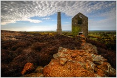 Parys Mountain Pumphouse and Chimney (neilholman) Tags: chimney mountain pumphouse parys