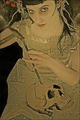 Anke Merzbach (STORMZORN) Tags: maiden madchen mortsqueletteskeletonfemmedame fillejeunewomannakedmementomorinuenude erosthanatosdansemacabrecadavercadavreznortcraneskull muertechica todtott tanzdellamorte
