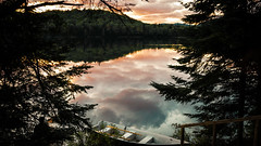 Lake Monroe, Parc National du Mont-Tremblant, Canada (EmptyStackExn) Tags: light sunset sky cloud lake canada nature silhouette outdoors cloudy tranquility atmosphere calm change majestic dramaticsky idyllic scenics monttremblant tranquilscene beautyinnature