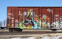 Grominate (quiet-silence) Tags: railroad art train graffiti railcar boxcar graff voltron freight grom sry fr8 grominate sry9228