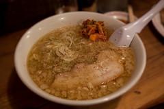 Fatty pork ramen (George Alexander Ishida Newman) Tags: food japan night dark table focus spice spoon bowl pork ramen porn shikoku fatty  kimchi kagawa  lat   springonion
