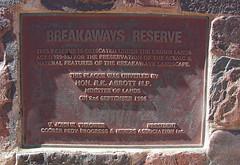 Breakaways Reserve plaque Sept 1986 (spelio) Tags: trip with desert south australia tm outback sa 2009