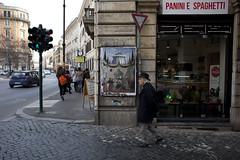 Aldo Rossi - Perugino// Roma, 2016. (RO.BO.COOP.) Tags: urban streetart rome paper poster modena architettura postmodernism aldorossi arteurbana robocoop streetartrome romabolognacooperazione