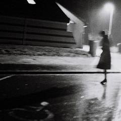 infrastructures (asketoner) Tags: winter light shadow woman signs blur france building girl rain silhouette modern night highway parking bretagne hanging handicap brocéliande