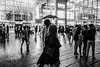 DSC04626 (drumbunkerdragon) Tags: street people white black reflection monochrome rain rock marina umbrella walking photography one bay singapore photographer looking sony want ii be sands ok raining drizzle mbs drizzling rx1r
