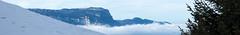 An alpine Panorama (thatfinalcut) Tags: schnee winter panorama snow france alps nature berg clouds landscape frankreich natur wolken berge alpen landschaft rhnealps rhnealpen