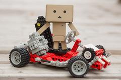 Danbo Kart (IQRemix) Tags: macro canon toy edmonton lego yotsuba danbo legotechnic danbooru racecart jfigure  danboard  cardbo cardboardboxrobot danboru