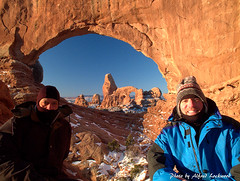 Early morning Turret Arch (Steve Christman) Tags: winter southwest portraits morninglight utah desert archesnationalpark turretarch fujixs1