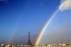 Parisians (bertrand kulik) Tags: sky cloud paris france nature architecture rainbow eiffeltower ciel nuage bertrandkulik