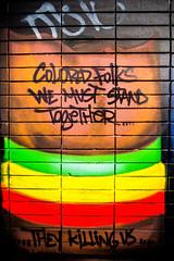 Colored Folks We Must Stand Together (Thomas Hawk) Tags: california usa america graffiti oakland unitedstates unitedstatesofamerica eastbay fav10