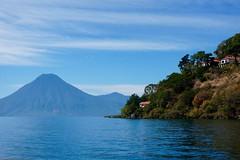 Lake Atitln, Guatemala ((Jessica)) Tags: lake water lago volcano guatemala sunny atitln atitlan volcanoes centralamerica pw volcn