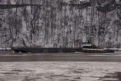 Gulf Coast (thetrick113) Tags: winter river tugboat barge hudsonrivervalley gulfcoast hudsonvalley 2016 hudsonhighlands putnamcountynewyork stormkingmountain coldspringnewyork hudsonriverice hudosnriver dannoceantowing deckbarge sonyslta65v hudsonrivertugboat winter2016 tugboatgulfcoast
