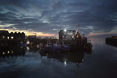 the late arrival (stocks photography.) Tags: sunset boats photography coast seaside fishing photographer harbour dusk stocks whitstable trawler trawling whitstableharbour stocksphotography michaelmarsh whitstablephotos whitstablephotography thelatearrival