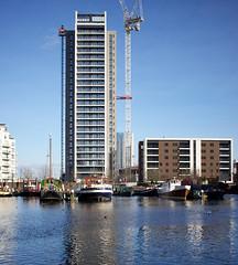 Horizons - Blackwall, London (SE9 London) Tags: uk england london tower thames skyline skyscraper river cityscape skyscrapers britain united great towers kingdom gb docklands architects e14 hamlets rma