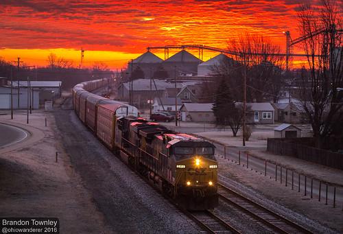 Sunrise in Fostoria, Ohio