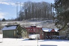 New Plymouth, Ohio (3 of 4) (Bob McGilvray Jr.) Tags: wood railroad ohio red train wooden tracks caboose cupola oh bo bb bedbreakfast newplymouth baltimoreohio