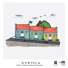 Raytor-Pietermaai (RayTor1) Tags: world city houses netherlands illustration colorful place curacao illustrator magical willemstad antilles seri seru korsow raytor raytormedia pietrmaai