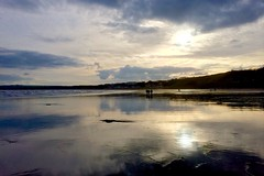 Filey Symmetry (Pam & Ben) Tags: sunset reflection yorkshire symmetry iphone filey