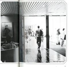 Interior View of Hunter College Bridge (Hunter College Archives) Tags: bridge building students buildings interior yearbook hunter 1989 huntercollege wistarion thewistarion