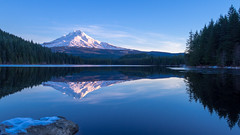 Photo of the Day: February 26, 2016 (olympussocialpr) Tags: mountain lake mthood trilliumlake