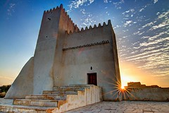 TOWERS OF BARZAN (Ziad Hunesh) Tags: sunset sky canon towers tokina hdr qatar قطر آثار 650d برزان 1116mm zhunesh barazn