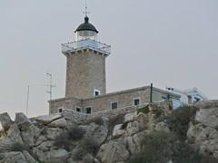 Hireon cape's lighthouse. (Christos Andreou) Tags: lighthouse landscape mediterranean greece cape coastline loutraki heraion corinthia beautifulworld seasunset hdrphotos galaxycamerasamples capehraion opticalzoomphotos