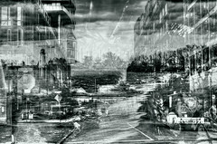 It's All Been a Pack of Lies (Paul B0udreau) Tags: city winter bw toronto ontario canada truck nikon waves samsung niagara master shore elements layer layers challenge canadapost ribbet portdalhousie nikkor50mm18 tonemapping d5100 samsungmaster paulboudreauphotography nikond5100 photoshopcc