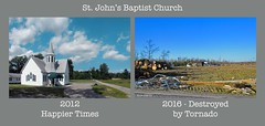 St. John's Baptist Church (r.w.dawson) Tags: virginia essexcounty damage tornado destroyed 2016