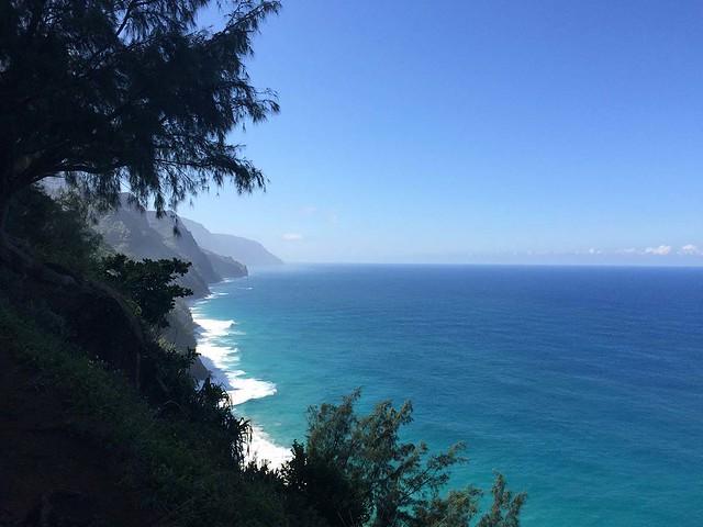 Looking south along the Na Pali coast