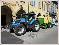 Landini Powermax 165 - Krone (DaveFuma) Tags: tractor krone agriculture trattore landini agricolo imballatrice